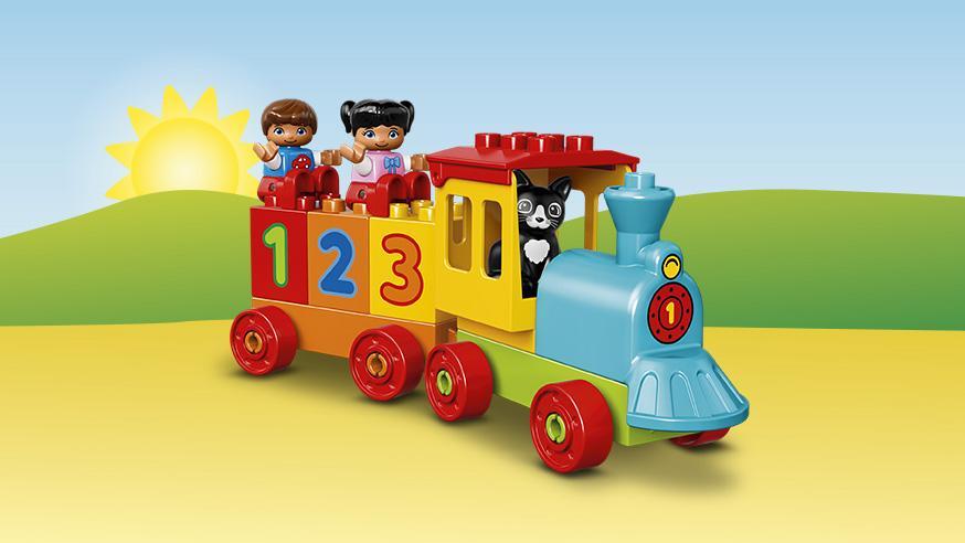 LEGO Zahlenzug Test