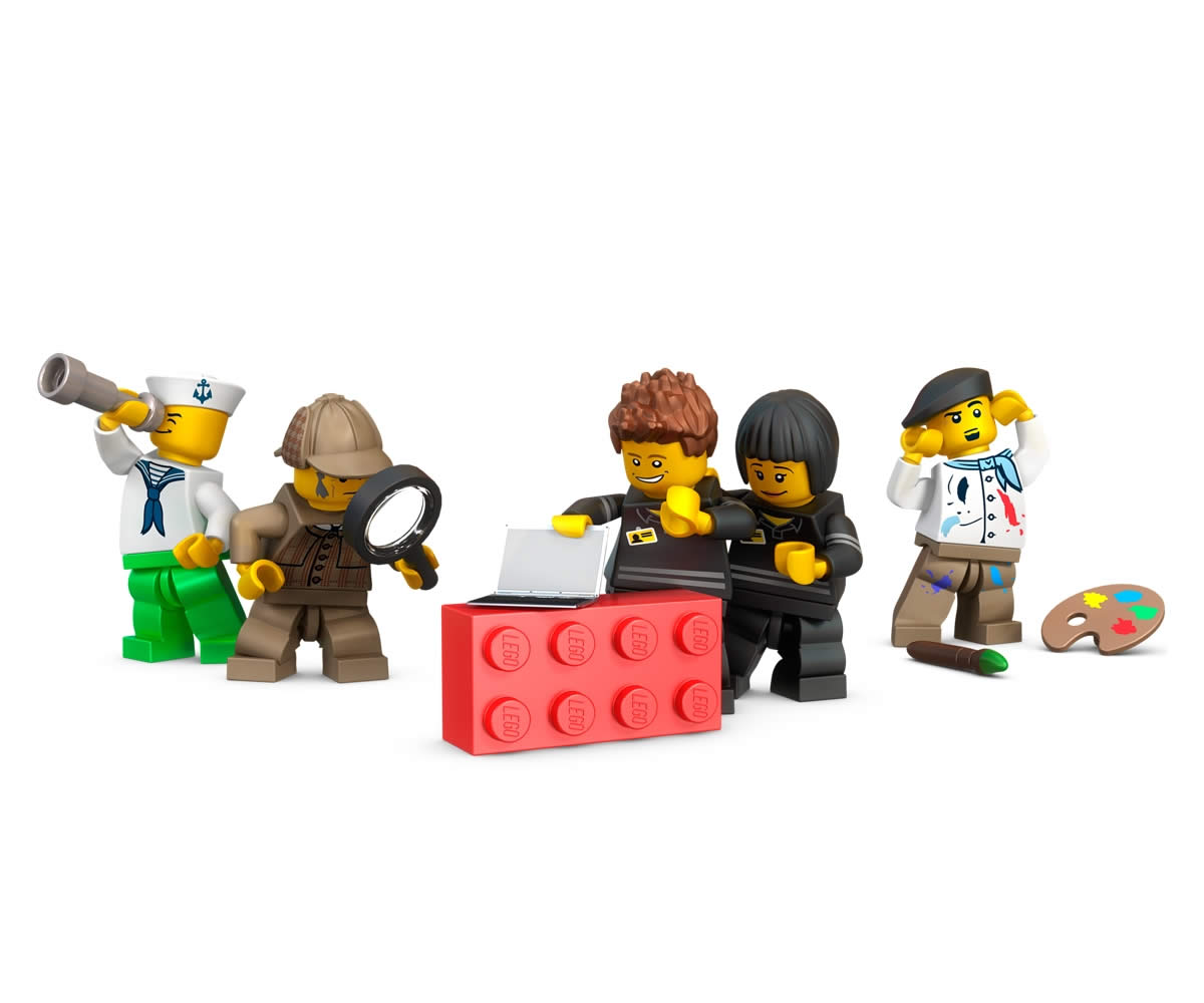 LEGO Minifiguren Display(Batman) für acht Figuren, vier Noppen
